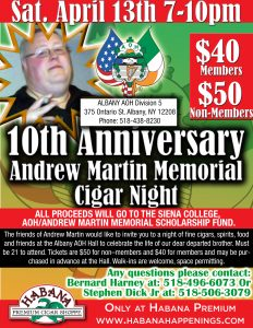 10th Annual Andrew Martin Memorial @ Ancient Order Of Hibernians