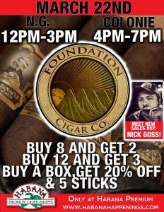Foundation Cigar Sale Event! @ Habana Premium Cigar Shoppe