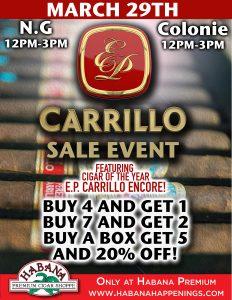 EP Carrillo Sale Event!