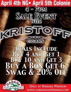 Kristoff Sale Event! @ Both Locations!